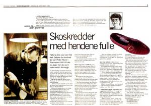 Faksimile fra Bergens Tidende: Skredder med hendene fulle