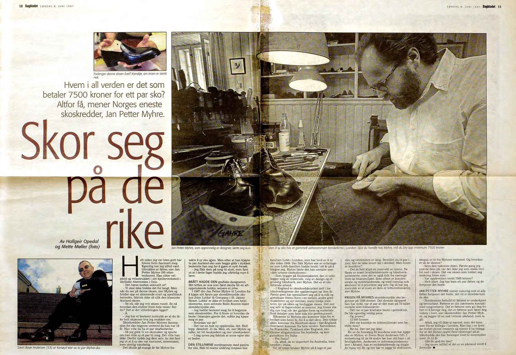 Faksimile fra Dagbladet